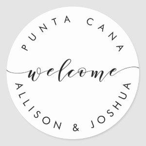 Welcome Sticker Tags for Guest Hotel Welcome Bags