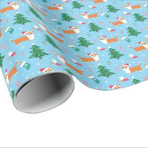 Welsh Corgi Christmas Wrapping Paper