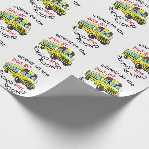 Wheels On the Bus Wrapping Paper