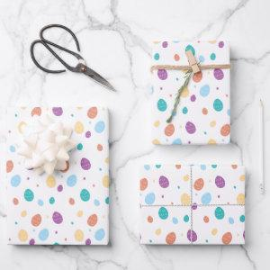 Whimsical Decorated Easter Egg Pattern Wrapping Paper Sheets