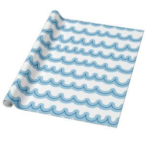 Whimsical Ocean Waves Wrapping Paper