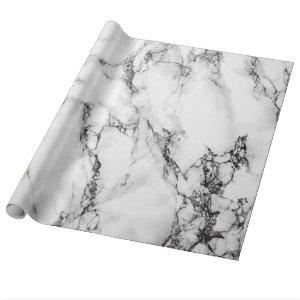 White And Black Marble Texture Wrapping Paper