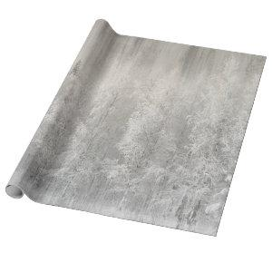 White and Silver Foil Christmas Wrapping Paper