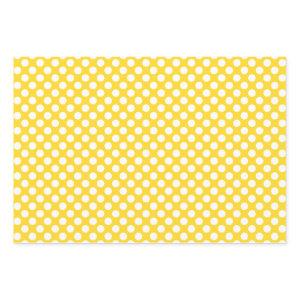 White and Yellow Polka Dot Wrapping Paper Sheets