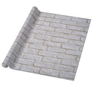 White Brick Texture Wrapping Paper