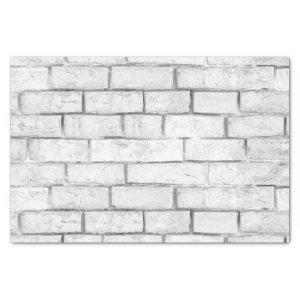 White Brick Wall Pattern Tissue Paper