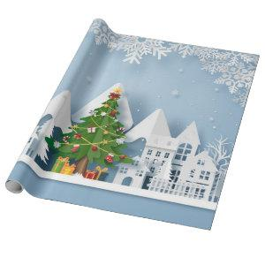 White Christmas Cutouts Wrapping Paper