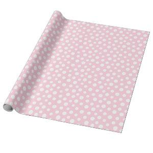 White Dots on Light Pink Wrapping Paper