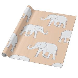 White Elephants Wrapping Paper