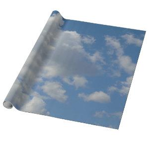 White/Gray Clouds and Blue Sky Wrapping Paper