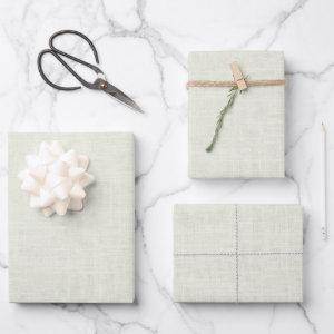 White Linen Wrapping Paper Sheets