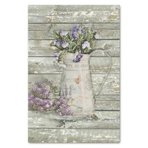 whitewashed barn wood farmhouse summer lavender tissue paper