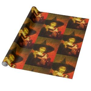 Wicked Witch And Flying Monkey Wrapping Paper