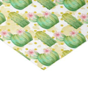 Wild cactus pattern watercolor party tissue tissue paper