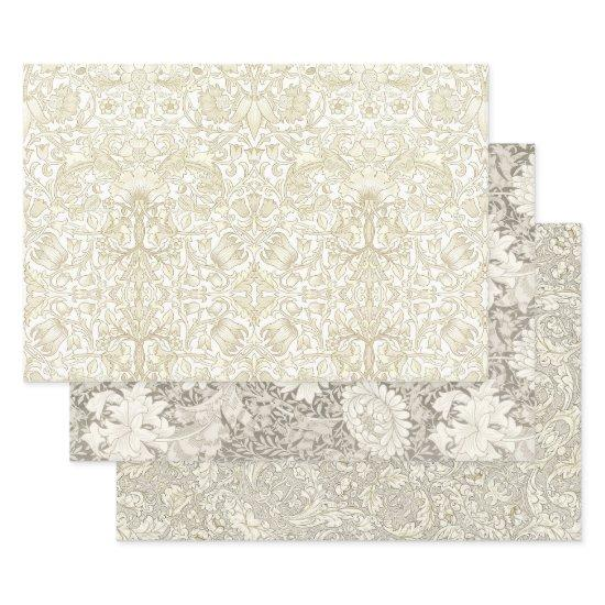 WILL MORRIS IVORY TAPESTRY HEAVY WEIGHT DECOUPAGE  SHEETS