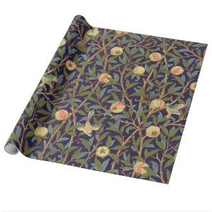 William Morris Bird And Pomegranate Vintage Floral Wrapping Paper
