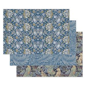 WILLIAM MORRIS BLUES HEAVY WEIGHT DECOUPAGE WRAPPING PAPER SHEETS