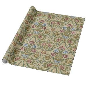 William Morris Brocade Floral Pattern Wrapping Paper