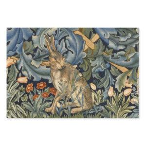 William Morris Forest Rabbit Floral Art Nouveau Wrapping Paper Sheets