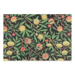 William Morris Fruit Pomegranate Floral Pattern Wrapping Paper Sheets
