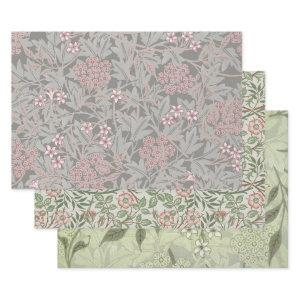 William Morris Jasmine Flower Pattern Wrapping Paper Sheets
