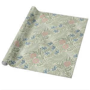 William Morris Larkspur Floral Pattern Wrapping Paper