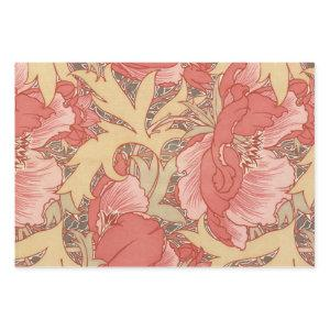 William Morris Poppies Floral Art Nouveau Pattern Wrapping Paper Sheets