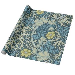 William Morris Seaweed Pattern Wrapping Paper