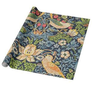 William Morris Strawberry Thief Floral Pattern Wrapping Paper