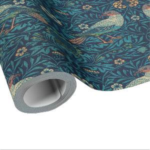 William Morris Vintage Floral Birds Wrapping Paper