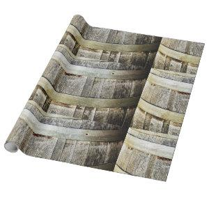 Wine Barrel Wrapping Paper