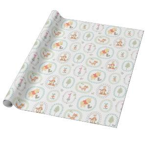 Winnie the Pooh | Cute Woodland Animals Pattern 2 Wrapping Paper