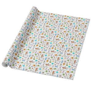 Winnie the Pooh | Friends Doodle Sketch Pattern Wrapping Paper
