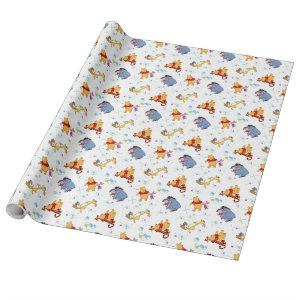 Winnie the Pooh | Hanging with Friends Pattern Wrapping Paper