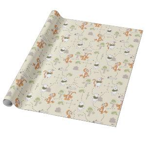 Winnie the Pooh | Tigger & Pooh Forest Pattern Wrapping Paper