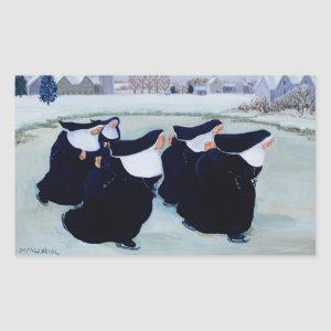 Winter at the Convent Rectangular Sticker