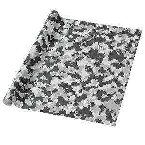 Winter Camouflage with Medium Sized shapes Wrapping Paper