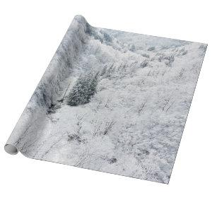 Winter forest wrapping paper