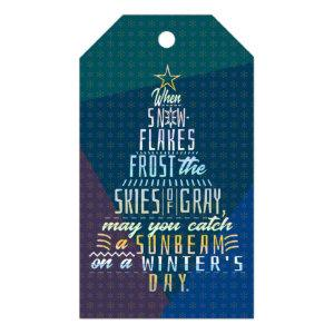 Winter Holidays Christmas Tree Snowflakes Poem Gift Tags