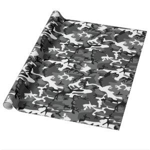 Winter Ice Camo Wrapping Paper