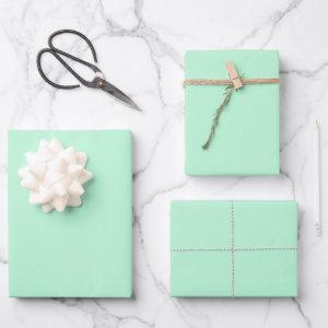 Winter Mint Solid Color Wrapping Paper Sheets