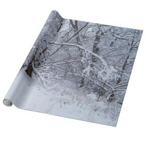 Winter Scene Wrapping Paper