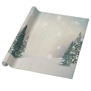 Winter Wonderland, Forest,Snow Holiday Wrapping Paper