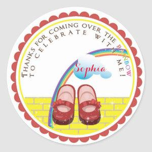 Wizard of Oz Birthday Stickers
