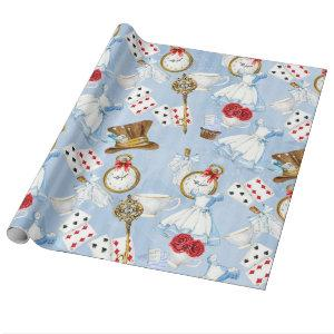 Wonderland Alice Pattern Wrapping Paper