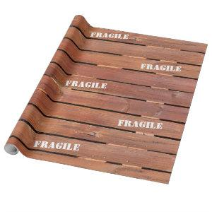 Wood crate wrapping paper