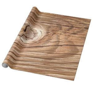 Wood Grain Knothole Wrapping Paper