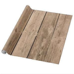 Wood Planks III Wrapping Paper
