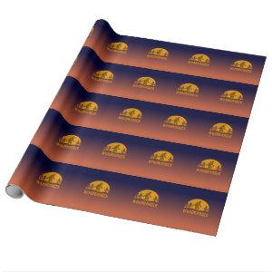Woodbooger Vintage Sunset Wrapping Paper