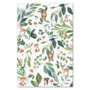 Woodland Animals Forest Greenery Decoupage Craft Tissue Paper